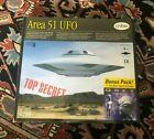Testors Model Kit Area 51 UFO Top Secret Edition! Bob Lazar Alien Figure RARE