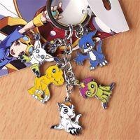 Anime Digital Monster Digimon Adventu Metal 5 In 1 Pendant Keychain Keyrings