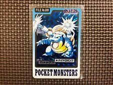 【Near Mint】Pokemon Cards 1997 Blastoise Prism Holo Bandai Carddass Japanese 009