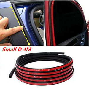4M Small D-Type Car Truck Door Rubber Hollow Strip Weatherstrip Sealing Strips