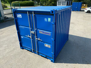7ft x 8ft - Containex Storage Container | Steel Store | Light |Heater | Shelving