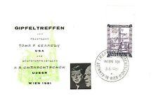 Briefmarken aus Österreich mit Sonderstempel für Politiker