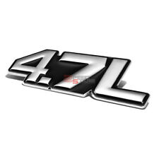 AUTO METAL BUMPER TRUNK GRILL FENDER EMBLEM LOGO BADGE CHROME BLACK 4.7 4.7L V6