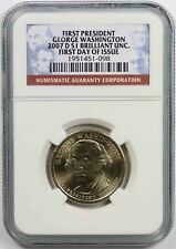 2007-D Washington $1 NGC Brilliant Unc (First Day of Issue) Presidential