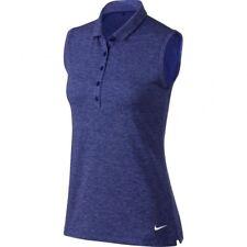 SZ SMALL RARE 🆕 Nike Women's Heather Sleeveless Golf Tennis Polo 840334-512 $60