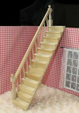 1/12 dollhouse miniature fitment DIY Material Wooden Left handrail Stair kit