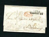 "Hamburg 1838,  ""T.T.R.4 - Hambourg""  klar   (#5024)"