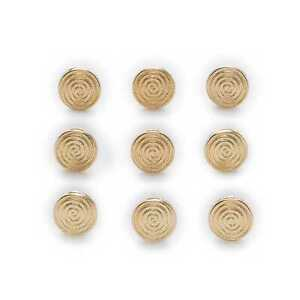 10pcs Gold Metal Shank Buttons Crafts Clothing Sewing Decoration Replace 10mm