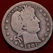 1901-O New Orleans Mint Silver Barber Quarter