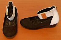 Girls River Island Black White Smart Party Shoes Ankle Strap Size 9 SB5