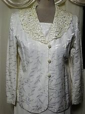 BEADED COCKTAIL CHURCH SKIRT SUIT SEPARATE  IVORY  18-20 PLUS