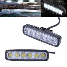 2X 18W 6 LED Arbeitsscheinwerfer Offroad Strahler 12V 24V Fluter Arbeitsleuchte