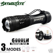 6000LM Zoom MINI Tactical Flashlight Q5 LED 14500 Waterproof Police Torch