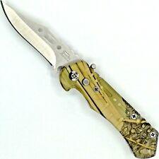 Klappmesser Einhandmesser Taschenmesser Messer Pakkaholz automatik 6,5 cm spring