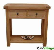 Oak Console Table / Oak Hall Table / Rustic Solid Wood Telephone Table Dorset