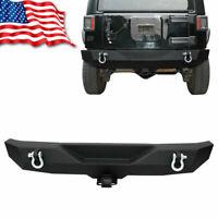 "Rock Crawler Rear Bumper W/D-ring & 2"" Hitch Receiver for 07-18 Jeep Wrangler JK"