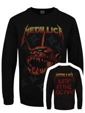 Metallica Christmas Log Fire Men's Black Sweater
