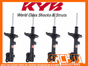 FRONT & REAR KYB SHOCK ABSORBERS FOR SUBARU FORESTER 07/2005-02/2008