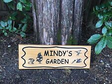 Personalized Custom Carved Engraved Cedar Wood Sign / Plaque Garden Gift