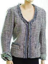 MAISON SCOTCH veste Cardigan blazer bouclette bleu femme taille 3