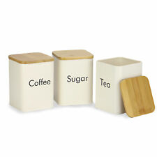 Kitchen Canister Set Tea Sugar & Coffee Canisters Kitchen Storage M&W