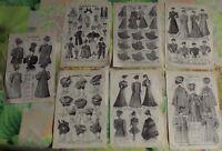 Lot Ancienne Gravure Larousse,Art Print on Original Antique Book Page 1880 Mode