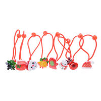 4Pcs Kids Girl Hair Accessories Ropes With Elastic Hair Band Christmas Gift  Z