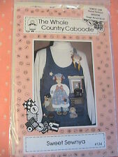 SWEET SEWNYA appliques of dolls~sewing machine~quilt~to sew on clothing 1994