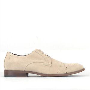 Douglas Hayward Beige Suede Brogue Oxford Shoes UK 9 | EUR 43 | US 10