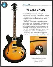 Yamaha SA500 + Pacifica 112 (with MIDI) electric guitars 6 x 8 pin up article