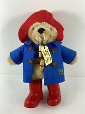Classic Paddington Bear Plush Toy with Boots and Tag - Look After this bear