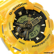 CASIO G-SHOCK Limited Edition Camouflage Yellow Watch GShock GA-110CM-9A
