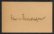 The Red Baron Von Richthofen Autograph Reprint On Genuine WWI 1917 3x5 Card