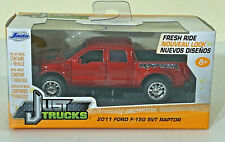 Jada Just Trucks 2011 Red Ford F-150 Special Vehicle Team SVT Raptor 1:32 Scale