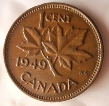 1949 CANADA CENT - Excellent Collectible Coin - FREE SHIPPING - Big Canada Bin