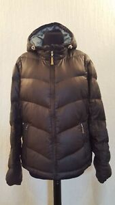 Eddie Bauer Black light weight quilted jacket - goose down filled  - Fit UK 14