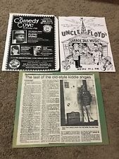 3 Uncle Floyd Related Things: Garage Sale Music, Newspaper Article & Flier