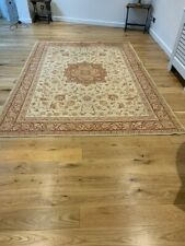 LAURA ASHLEY Templeton Gold Floral Traditional Large Wool/Cotton Rug