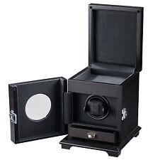 Volta Single 1 Rustic Brown Watch Winder w/ Storage Drawer Belleview 31-560011