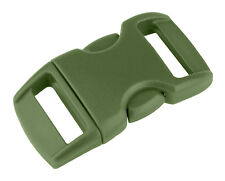 25 - 3/8 Inch Military Green Contoured Side Release Plastic Buckle Closeout