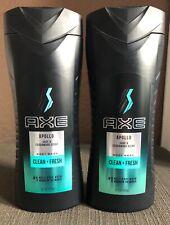 Axe Body Wash 16 fl oz Apollo Sage & Cedarwood Scent - Lot of 2 Bottles
