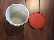 Vintage Tupperware Small Container With Burnt Orange Seal.