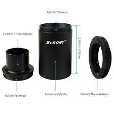 "SVBONY 1.25""M42 Thread T-Mount Adapter+T2 Ring for Nikon DSLR/SLR Lens Adapter Y"