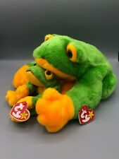 Ty Beanie Buddy and Babies Bundle Smoochy the Frog Pair Plush Stuffed Animal