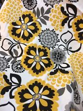 Yellow And Grey Flower Floral Print Valance