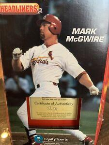 Mark McGuire Bobble Head 1998 Headliners XL 70 Home Run MLB Signed Authentic COA