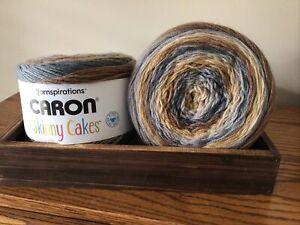 2 CARON SKINNY CAKES in Tiramisu 8.8oz/250g 795yds/727m Each.