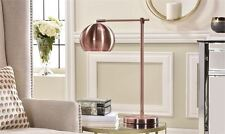 """22"""" Metal Polished Copper Finish Table Lamp w Metal Dome Shade Desk Lamp Design"""