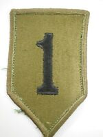 WWII U.S.Army 1st Infantry Division Shoulder Patch Black