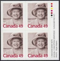 QUEEN ELIZABETH II = Block of 4 w/ Booklet inscription Canada 2003 #2012 MNH-VF
